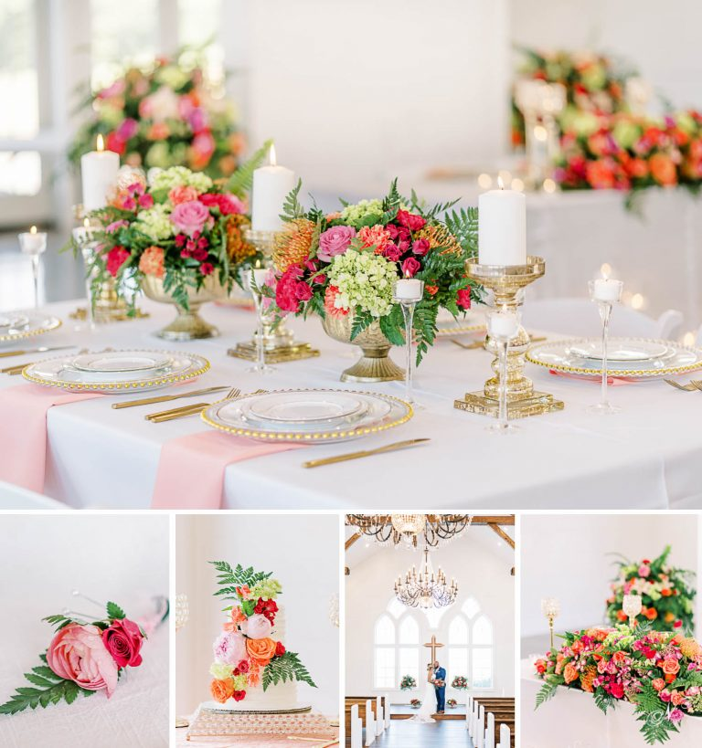 Pinks and coral summer wedding inspiration