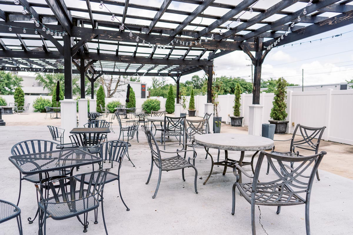 stratton hall's outdoor patio