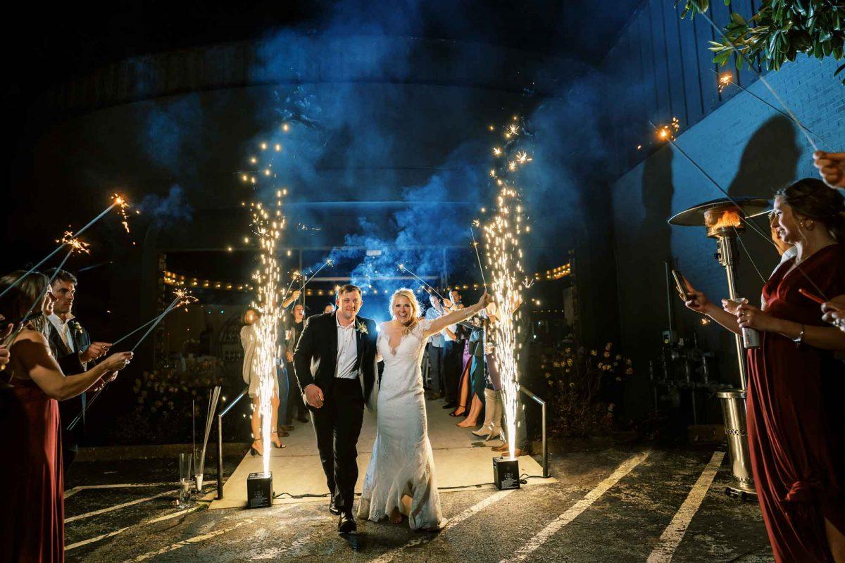 cold sparks wedding exit