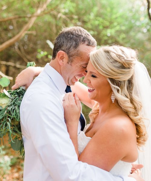 chattanooga firefighter bride and her Chattanooga policeman groom on the happiest day of their lives